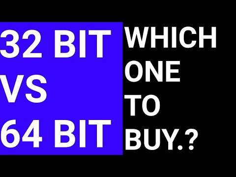 32 and 64 bit processor | difference | which one to buy - in Hindi