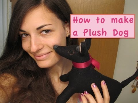 How to Make a Plush Dog Stuffed Animal + FREE PATTERN