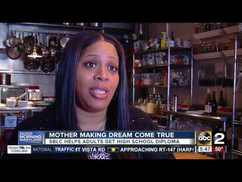 Baltimore mother of two working toward high school diploma