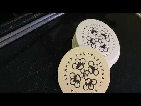 Letterpress Beer Coasters