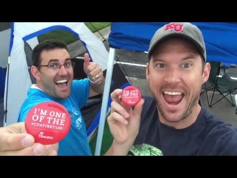 Chick-fil-A Campout - Tyler & Ryan