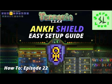 Terraria 1.3.4.4 HOW TO | Ankh Shield Easy Setup | Episode 22