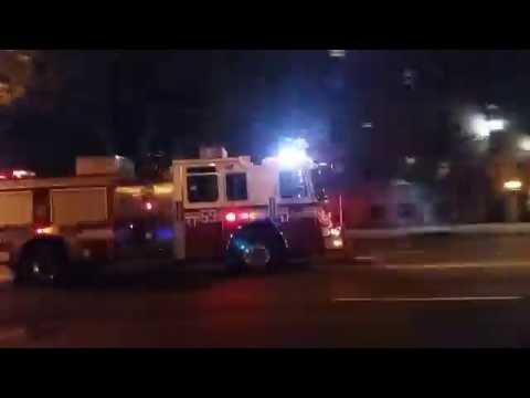 FDNY Engine 59 Responding In East Harlem In Manhattan, New York
