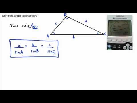 Trigonometry - Sine rule, Cosine rule - (IB Math, GCSE, A level, AP)