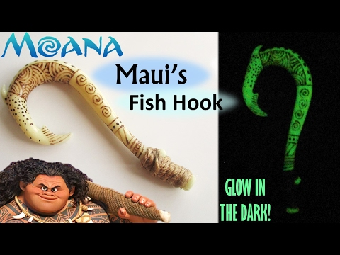 DIY Maui's Fish Hook Glow In The Dark Polymer Clay || Maive Ferrando