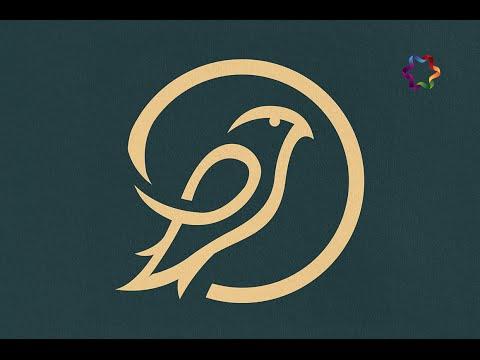 illustrator tutorial : How to make awesome Animal Logo Design use pen tool and circular grid