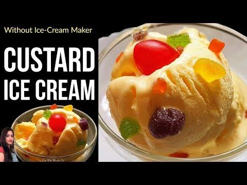 कस्टर्ड आइसक्रीम-Custard Ice cream recipe-Custard Ice cream recipe in Hindi-homemade ice cream