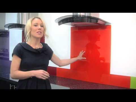 Orange - Colour Toughened Glass Splashback