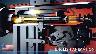 M16 and AR-15 - How firearms work! (Animation)