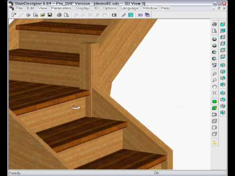 Change a straight stair to a quart turn design (Part 2) | Wood Designer Ltd