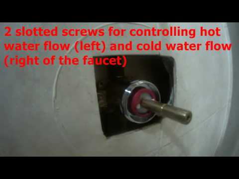 shower faucet low water flow and too hot - FIXED (DIY)