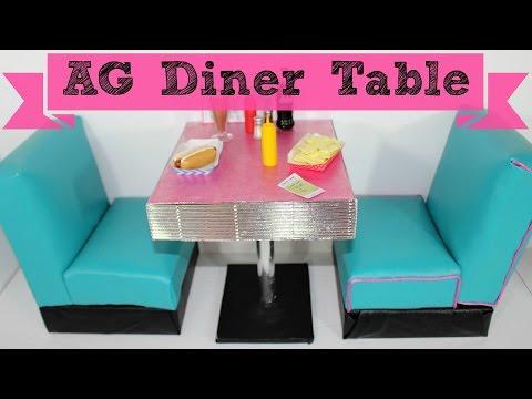 DIY American Girl Doll Diner Table