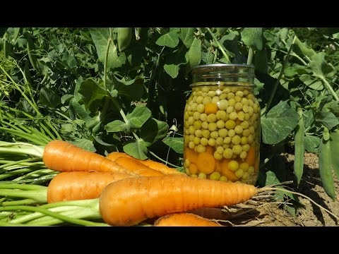 How to Can Peas and Carrots