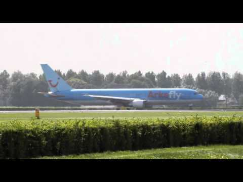 [HD] Departure of flight 'OR363'. ArkeFly B767-300 PH-AHQ to Curacao and Aruba