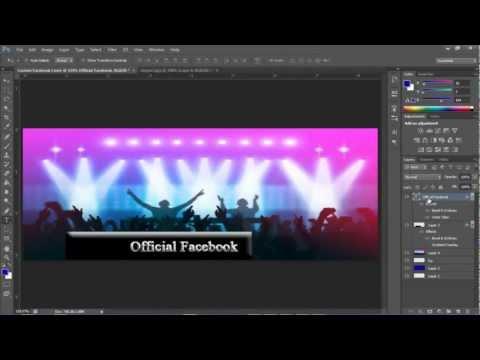 Photoshop CS6: How to create a Custom Facebook Cover Image
