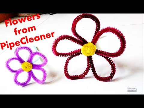 How to make Flower from Pipe Cleaner || Pipe Cleaner Flower #2