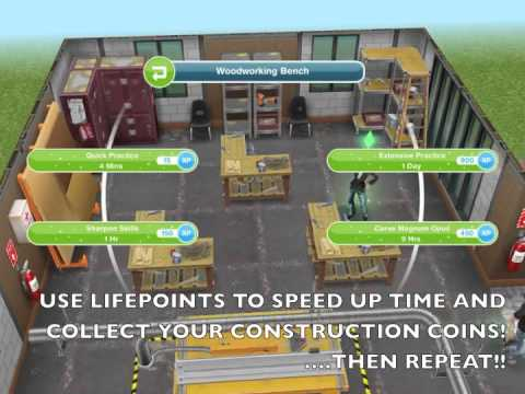 NEW Sims FreePlay Construction Coin Cheat NEW Stairs Update