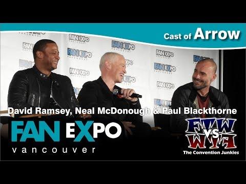 Arrow's David Ramsey, Neal McDonough & Paul Blackthorne - Fan Expo Vancouver - Full Panel