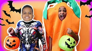 Shiloh & Shasha TRICK OR TREAT HALLOWEEN! w/ Skittles, Chocolate, Gummy - Onyx Kids