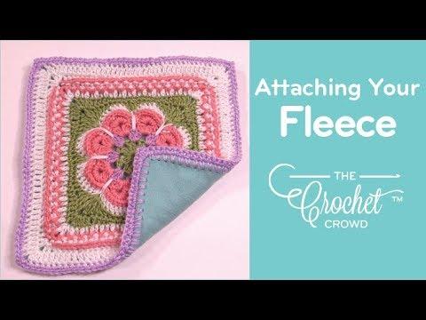 Step 3 Final Step: Attaching Fleece to Crochet Project