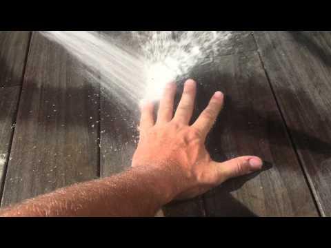 Low pressure Ipe deck washing
