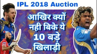 IPL 2018 Auction : Top 10 Unsold Players & Their Reasons In Auction
