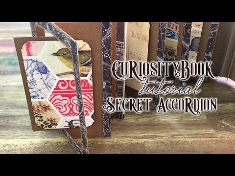 Secret Accordion Scrapbook tutorial - Curiosity Book 3 de 4