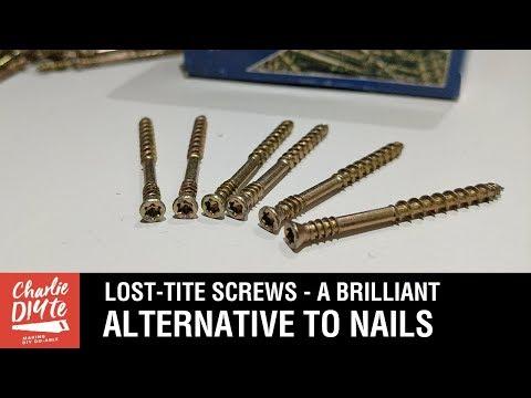 Lost-Tite Screws - a Brilliant Alternative to Nails