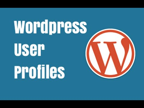 Updating User Profile in Wordpress - Wordpress Tutorial