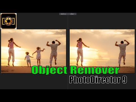 How to remove Object In PhotoDirector 9 || How to Use Object Remover || Part 8
