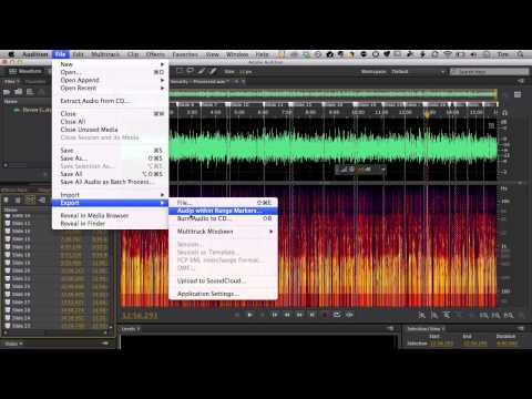 Splitting Audio files for elearning in Adobe Audition CC