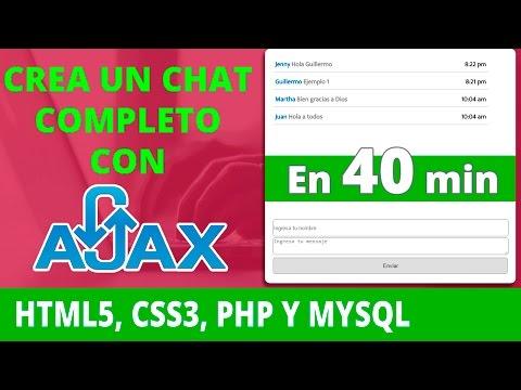 Como Crear un Chat con HTML5, CSS3, PHP, MYSQL y AJAX