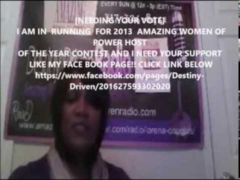 2013  AMAZING WOMEN OF POWER RADIO TALK SHOW HOST OF THE YEAR 2013 CONTEST
