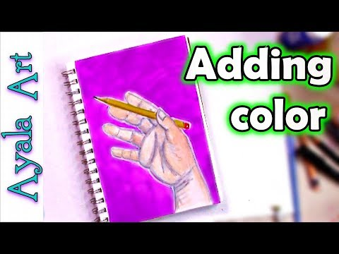 Painting hands with acrylics  tips and tricks | FREE art tutorial