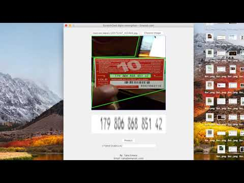 Mobile Scratch card Digits Recognition