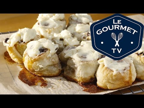 Puff Pastry Cinnamon Rolls with Cream Cheese Frosting -Recipe - LeGourmetTV