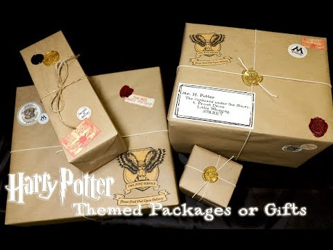 Harry Potter Themed Packages or Gifts : Owl Post DIY : Harry Potter Mail : Harry Potter Christmas