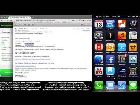 Setup Free VPN for UK US and Earn Money with your iPhone iPad iPod trick Feature Points hack