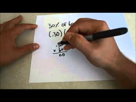 How To Find The Percent Of A Number-Math Lesson