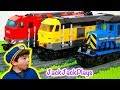 Lego Train Sets In Pretend Play Cops And Robbers Skits