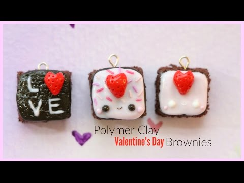 Polymer Clay Tutorial For Beginners - Valentine's Day Brownies