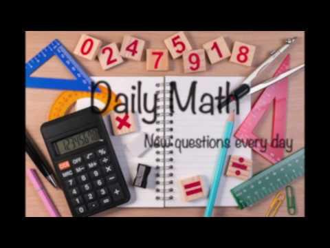 Factorising - Daily Math #1