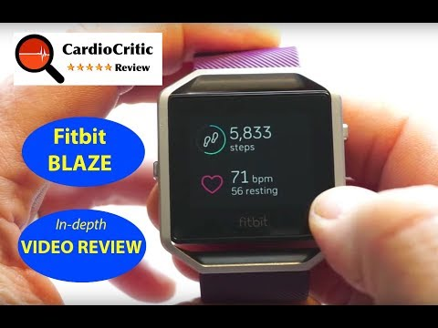 Fitbit Blaze Review. An in-depth look at this popular Fitness Tracker with wrist based heart rate