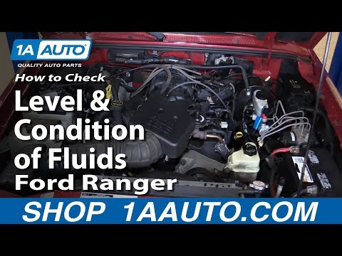 How to Check Level and Condition of Fluids in Your 2001 Ford Ranger 4.0L V6 BUY PARTS AT 1AAUTO.COM