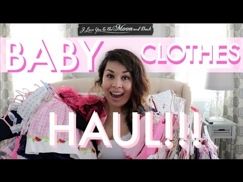 BABY GIRL CLOTHING HAUL!!!