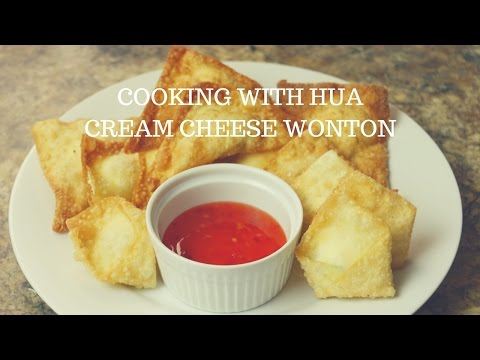 How to Make Cream Cheese Wontons - Cooking With Hua
