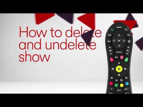Delete and Undelete on Virgin TV V6 box