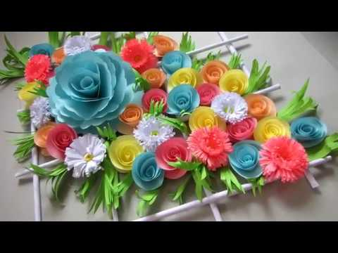 DIY. Simple Home Decor. Wall Decoration Door. Hanging Flower. Paper Craft Ideas