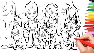 Paw Patrol Coloring Pages | Kids Learn Color, painting page ...