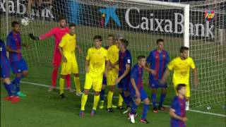 [HIGHLIGHTS] FUTBOL (2AB): FC Barcelona B-At.Saguntino (3-1)